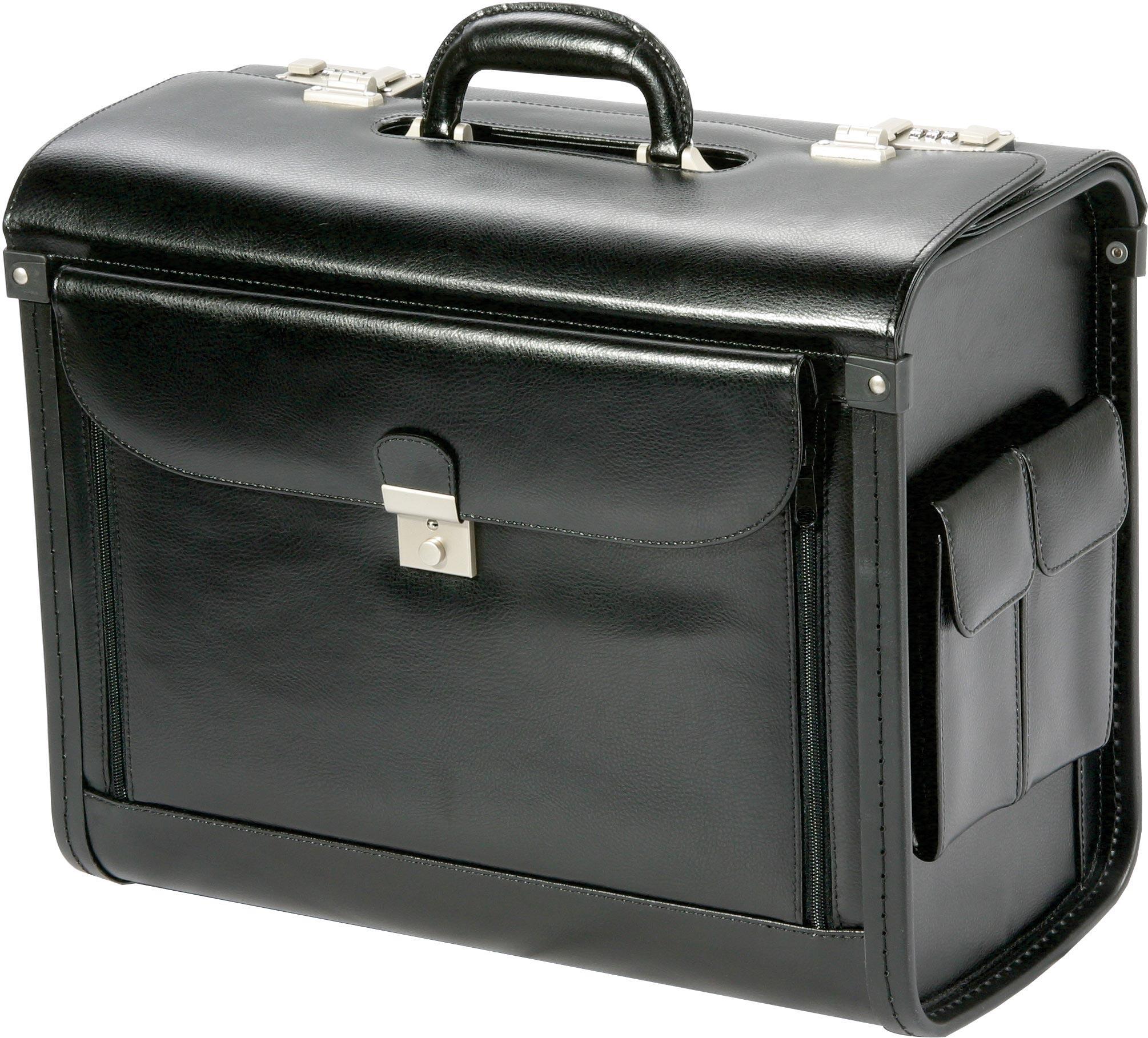 valise de pilote en cuir profil noir meandmy 28000 bagage d 39 affaires citasac. Black Bedroom Furniture Sets. Home Design Ideas