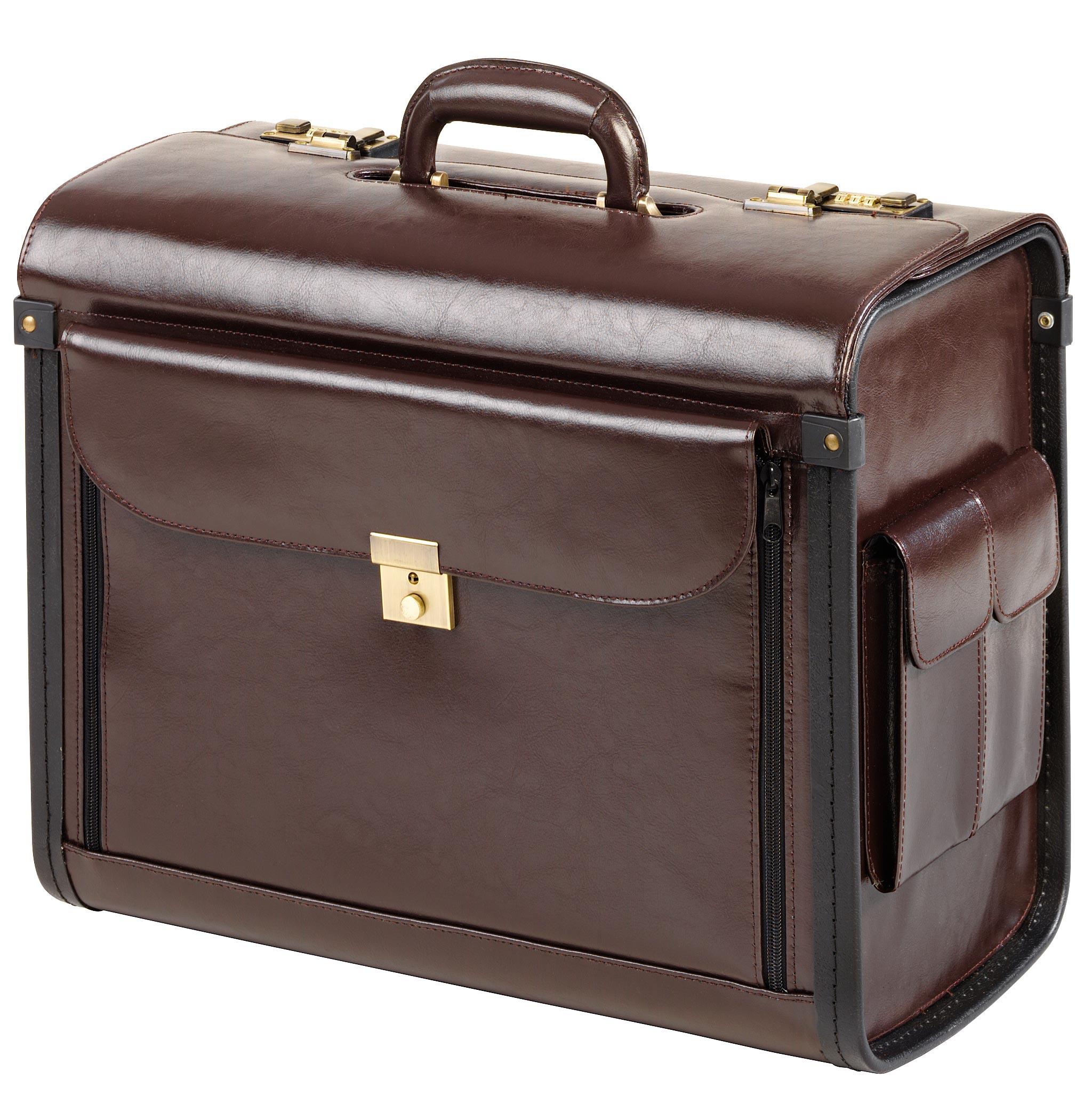 valise de pilote en cuir profil marron bagagerie d 39 affaires meandmy 28009 citasac. Black Bedroom Furniture Sets. Home Design Ideas