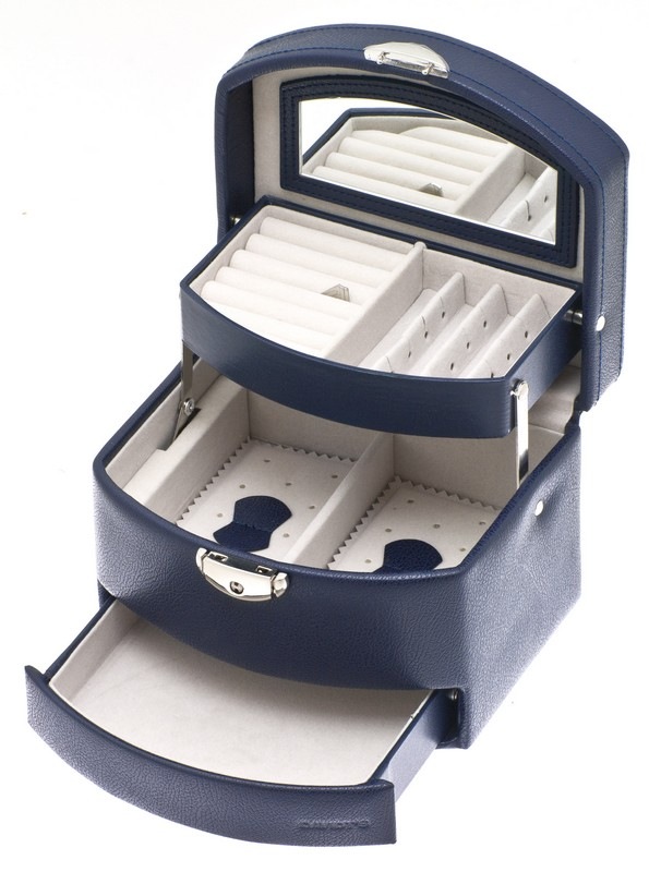 davidt 39 s boite bijoux design euclide bleu marine. Black Bedroom Furniture Sets. Home Design Ideas