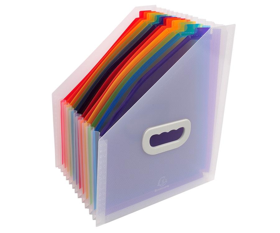 trieur de bureau extensible avec poign es 12 compartiments cristal trieur bureau exacompta. Black Bedroom Furniture Sets. Home Design Ideas